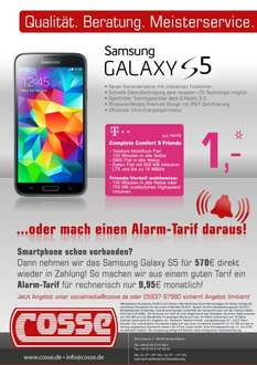 (268,80€) Cosse Telekom Complete S Friends 9,95€ pro Monat + 30,00€ 500MB/1250MB LTE 100/200Freiminuten SMS Flat !!Junge Leute!!