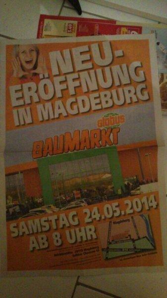 """[Lokal Magdeburg] Globus Baumarkt Neueröffnung am 24.5. mit """"Eröffnungeknallern"""" (bis 31.05.) & 20 % Rabatt auf alles andere (bis 28.5.)"""