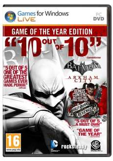 [STEAM] Batman Arkham City GOTY @amazon.com