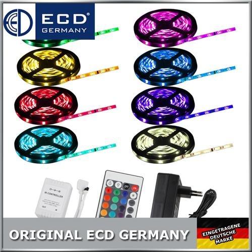 10m LED SMD STRIP LEISTE BAND LICHTKETTE RGB 5050+ FERNBEDIENUNG + NETZTEIL @ebay 24,99€