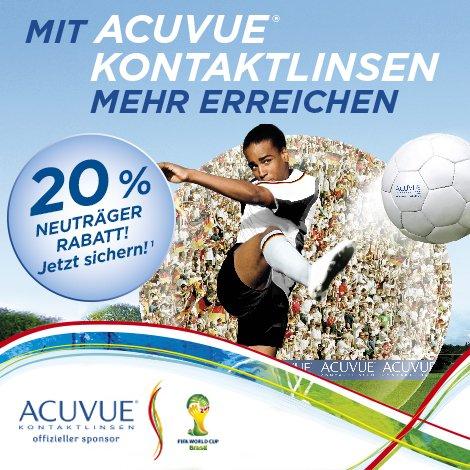 ACUVUE Kontaktlinsen WM-Aktion -20%