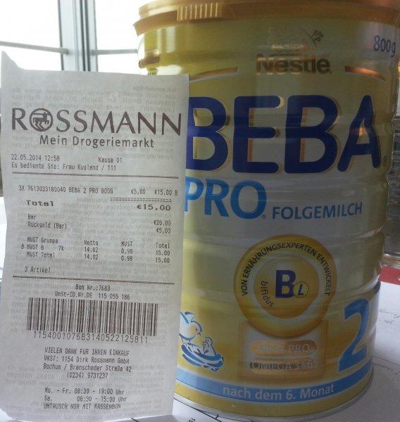 5,00€, BEBA Kindermilch(800 g). Bei Rossmann in Bochum. Lokal?