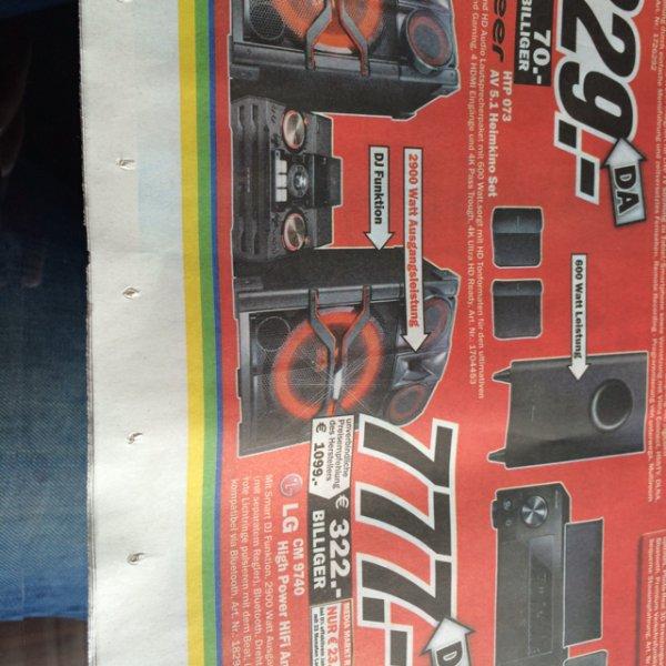 [Lokal Velbert] Schön die Nachbarn quälen ;) Media Markt LG CM9740 für 777€