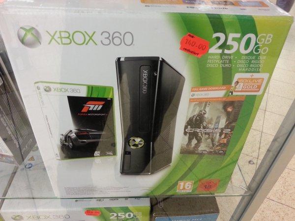 [Lokal Wiesbaden] XBox 360 Slim 250 GB mit Crysis 2 und Forza 3 + 3 Monate Live Gold