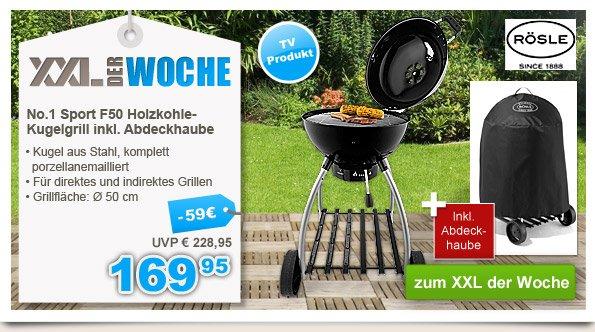 Rösle No.1 Sport F50 Holzkohle-Kugelgrill inkl. Abdeckhaube - 169,95€ statt 228,95€