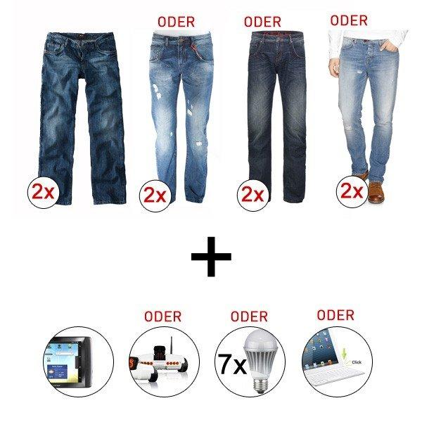 2 x H.I.S Herren Jeans und dazu gratis ein Tablet von Archos, Tastatur, Spy C Tank oder 7 LED Lampen
