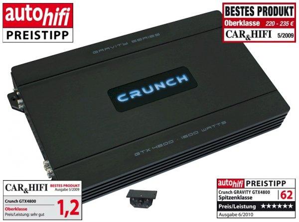 Crunch GTX4800 - 4-Kanal Verstärker 149€ statt 195,94@ Idealo
