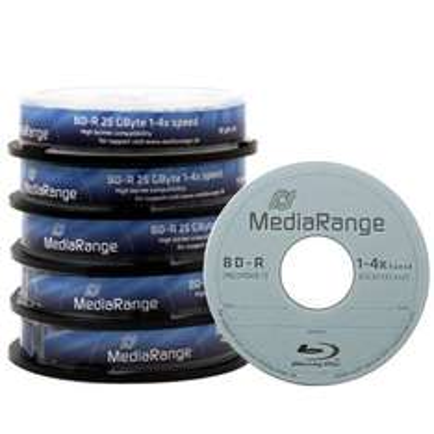 MediaRange BD-R 25GB - 50 Stk + MediaRange BD-R Dual Layer 50GB  - 1 Stk Gratis
