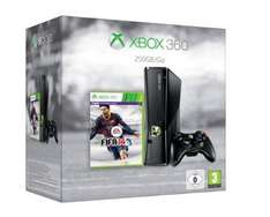 Microsoft XBOX 360, 250 GB Konsole inkl. FIFA 14 und zweiten Controller für 207€