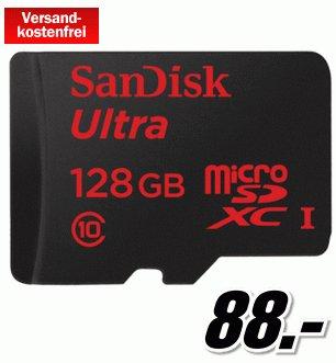 SANDISK Ultra® microSDXC 128 GB für 88,- [MEDIAMARKT Online]