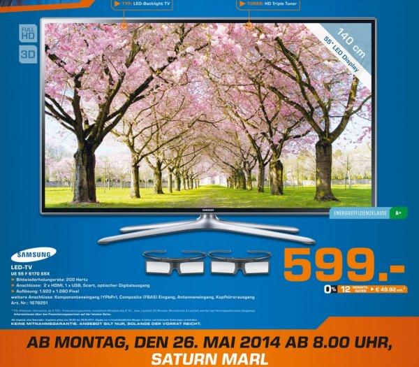 Samsung UE55F6170 für 599€,Samsung UE50H6470 für 799€ Lokal [Saturn Marl]