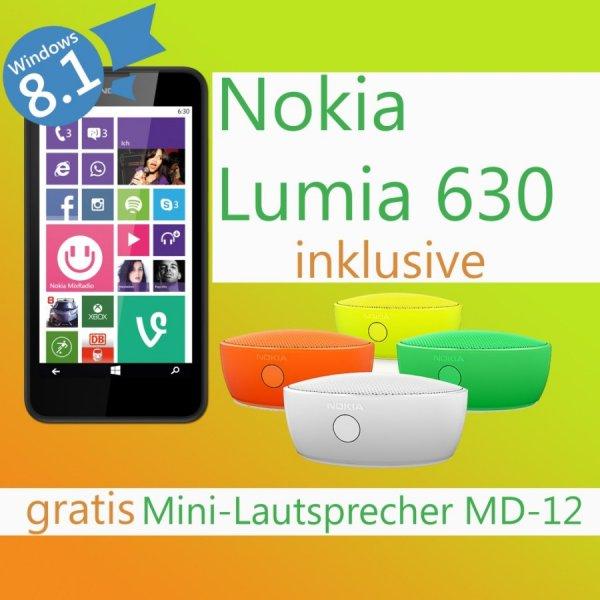 Nokia Lumia 630 + MD-12Lautsprecher für 149€ (Gutschein)
