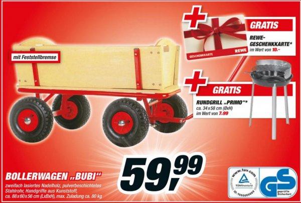 [toom Baumarkt] Bollerwagen Bubi + 10€ REWE Gutschein + Rundgrill
