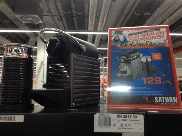 139€ - Nespresso mit Milchschäumer + 80€ Guthaben = 49€ effektiv für die Maschine - Saturn Stuttgart
