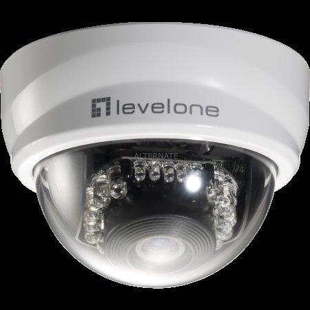 "[ZackZack] Level One Netzwerk-Dome-Kamera ""FCS-3101"" / IP-Kamera LAN, WLAN ""WCS-6020"""