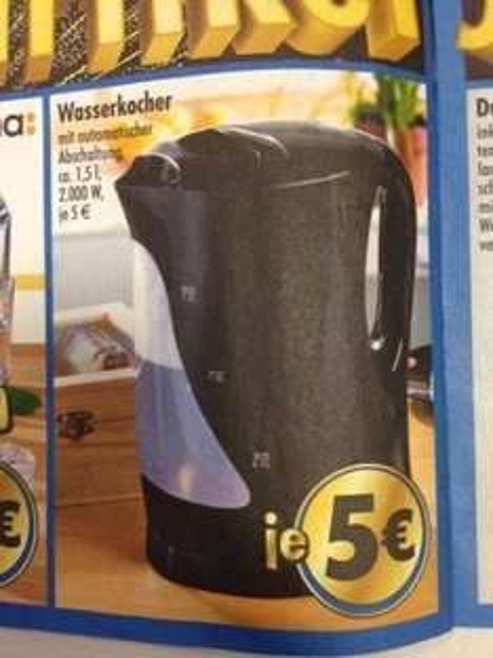 (bundesweit) TEDi Jubiläumgsangebot Wasserkocher 5€, 2er Pack Leuchtmittel 1€