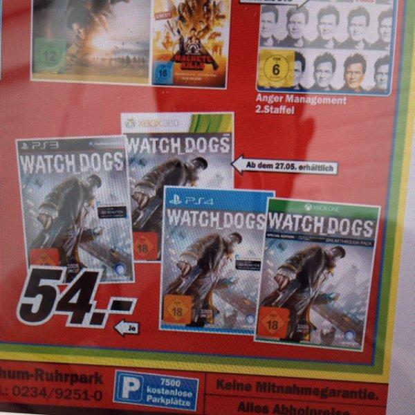 [lokal Bochum] WATCH DOGS für alle Konsolen