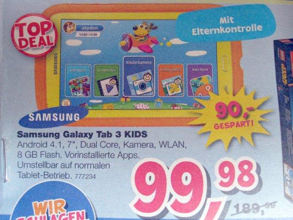 [Toys'R'Us] Samsung Galaxy Tab 3 KIDS für 99,98€