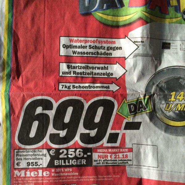 [lokal] Miele W3371 WPS (699€) oder Bosch KGV39VL33 (399€) MM Würzburg