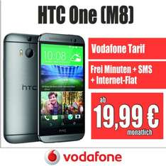 HTC One 2014 M8 + Vodafone Vertrag Smart M 300Freiminuten|SMS-Flat|Internet-Flat