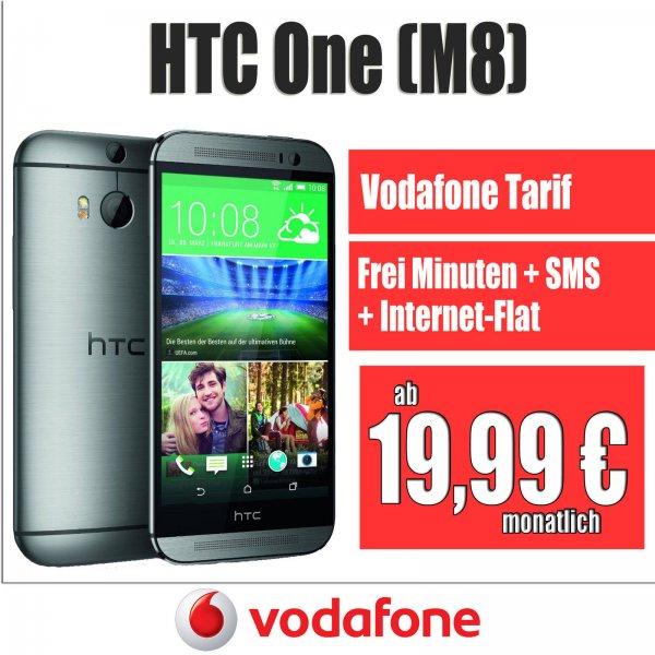 HTC One 2014 M8 + Vodafone Vertrag Smart M 300Freiminuten|SMS-Flat|Internet-Flat