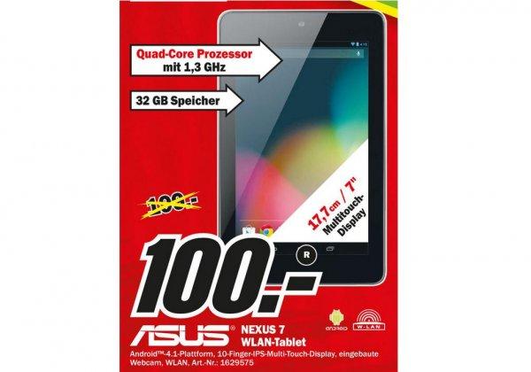 [Lokal] Mediamarkt 31228 Peine Asus Google Nexus 7 32Gb 1,3 GHz Wifi