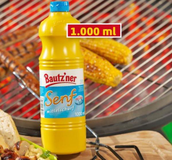 NETTO (mit Hund) Bautz'ner Senf 1000-ml-Flasche 99 Cent