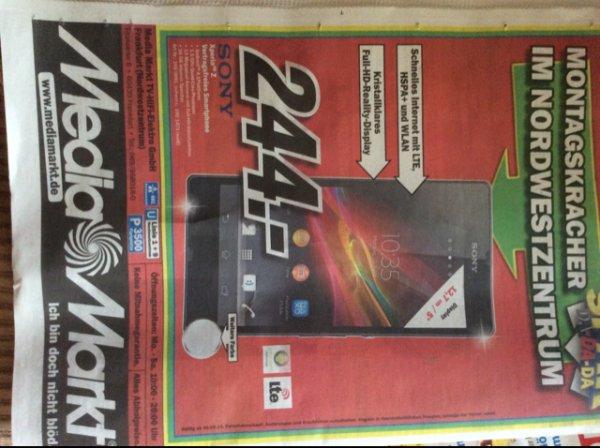 Sony Xperia Z 244€ lokal[FFM-Mediamarkt NWZ]