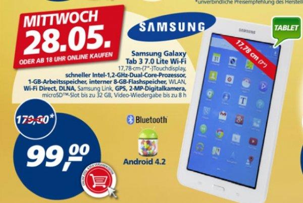 [offline, ab 18 Uhr online] Real Samsung Galaxy Tab 3 7.0 Wifi am Mi, 28.05