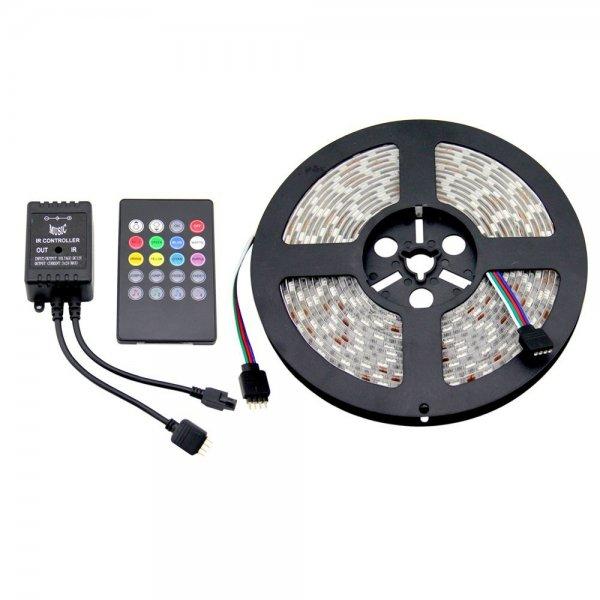 2 x 5m RGB LED Strip 5050 Wasserdicht 60 Led/m Netzteil Fernbedienung und Musiksteuerung Amazonversand