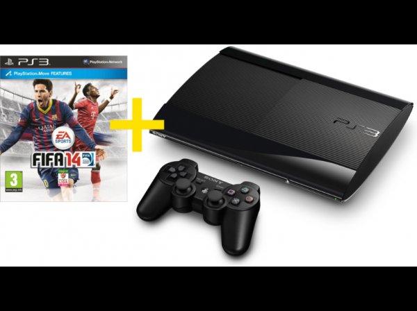 [mediamarkt.at] SONY PS3 Super Slim 12GB inkl. FIFA 14 (adidas Edition exklusiv)
