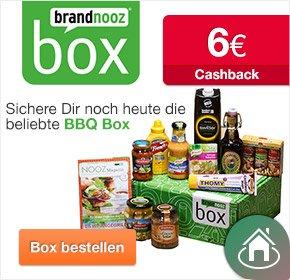 brandnooz – BBQ BOX und brandnooz Fan Box für je 12,99€ + 6€ Cashback