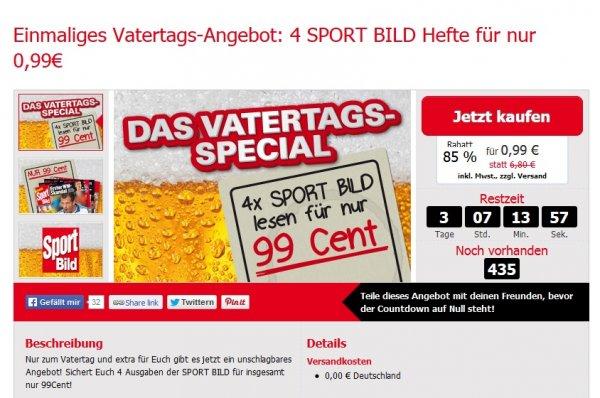 4 SPORT BILD Hefte für nur 0,99€ // limitiertes Angebot
