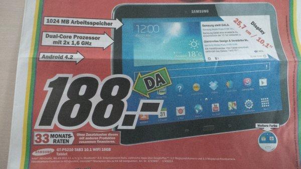 [OFFENBURG/BADEN-BADEN] Samsung GT-P5210 Tab3 10.1 16GB Tablet