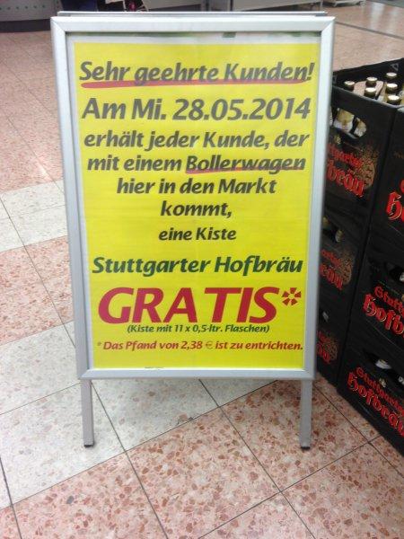 "[Lokal Stuttgart-Feuerbach] Zum Vatertag eine Kiste ""Stuttgarter Hofbräu"" gratis!"