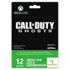 [play-asia.com] Xbox Live 12 Monate +1 Gold Membership Card (Call of Duty: Ghosts Edition) ca. 51.28€