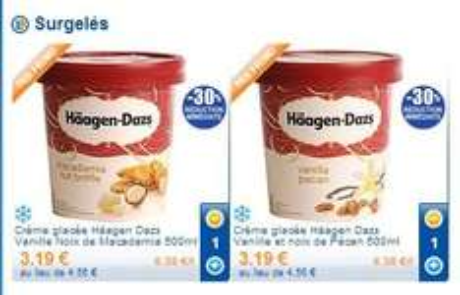 Frankreich Leclercdrive Häagen Dazs 3,19€ / 500ml vanilla pecan od. macadamia nut brittle