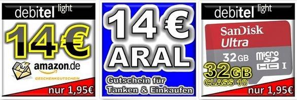 Prepaid-Simkarte mit 10€ Guthaben & 14€ Amazon Gutschein für nur 1,95€, bis zu 24,10€ Gewinn