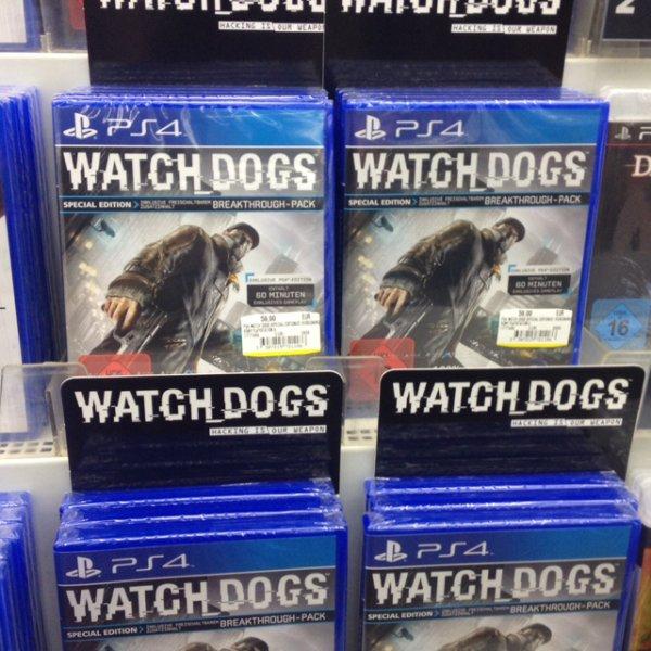 [Media Markt Berlin Kaufpark Eiche] Watch Dogs für PS4 / PS3 / Xbox 360 / Xbox One PC je 55 Euro ?!