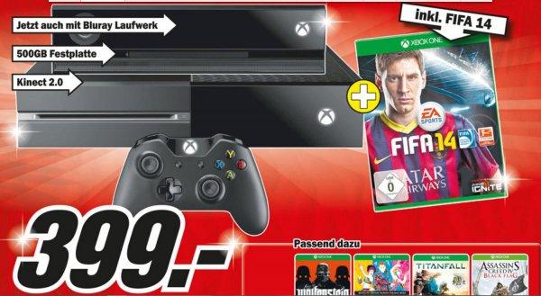 (Media Markt Offline 64331 Weiterstadt) XBox One Premium Bundle + Kinect + Fifa 2014