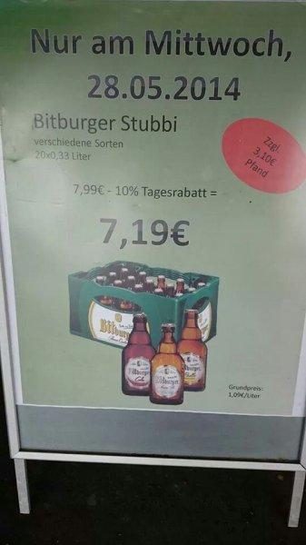 Kasten Bitburger Stubbi (alle Sorten) für 7,19 zzgl. Pfand [Trier]