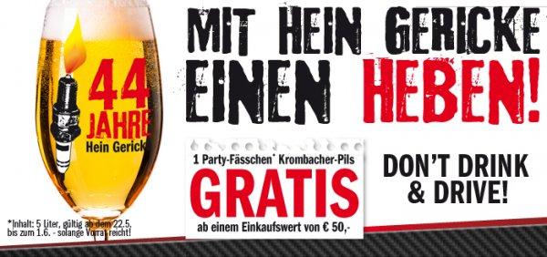 Hein Gericke 5L Fass zum Vatertag gratis bei 50€ Einkauf im Shop