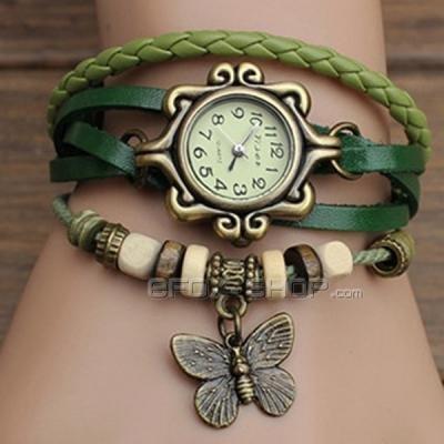 Modischer Damenarmbanduhr mit Schmetterling Dekoration