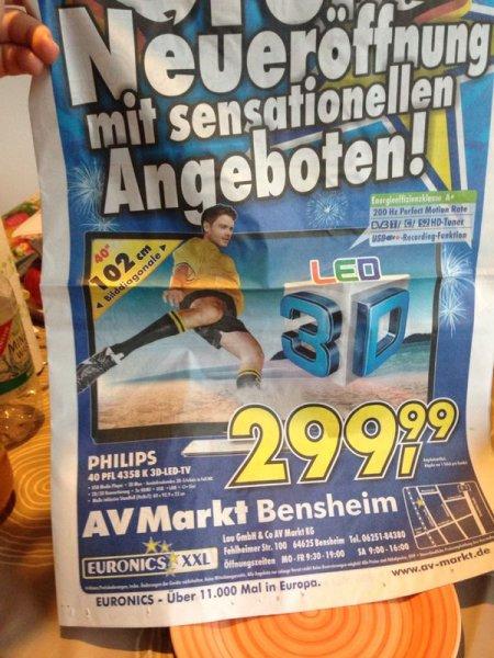 Philips 40PFL4358k 3D LED 299,99€ [LOKAL]