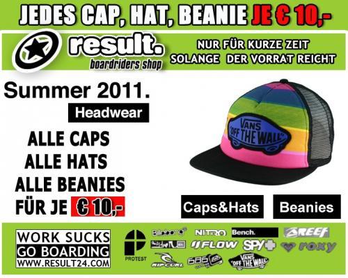 Result24.com SALE / Caps / Hats / Beanies  für je 10€ (zzgl. 1x Versandkosten 5€ / Bestellung)