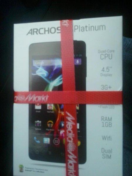 [Media Markt, Friedrichshafen] ARCHOS 45 Platinum [502489] Dual-Sim, Quad-Core usw.