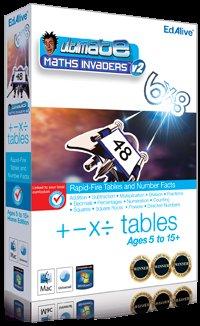 Ultimate Maths Invaders -> Mathe Lernprogramm für Kids in Englisch