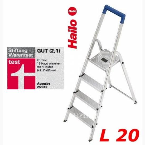 Lokal: Unna - Globus Baumarkt  Hailo L20 Haushaltsleiter Alu, 4 Stufen für 19,11€