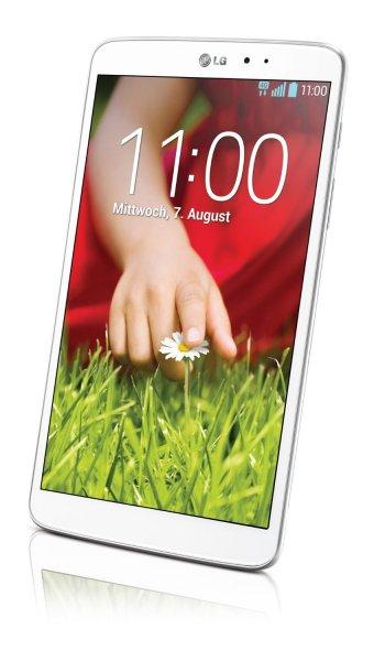 """[meinpaket.de] LG G Pad 8.3 21 cm (8"""") Full-HD IPS16 GB Wifi, Tablet weiss inkl. Vsk für 219 € Update!"""