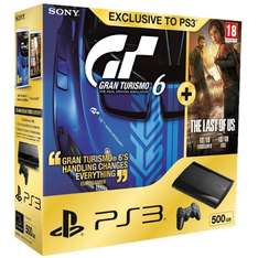 Playstation 3 Super Slim 500GB Last of Us/Gran Turismo 6 Bundle ab 165€ [Amazon WHD]